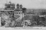 1 vue  - vue d'ensemble nouvelle et ancienne Eglise (ouvre la visionneuse)