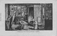 1 vue  - le bienheureux Curé d'Ars en prières dans sa chambre (ouvre la visionneuse)