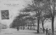 1 vue  - la Valbonne - grande Allée et vue des tentes (ouvre la visionneuse)