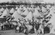 1 vue  - camp de la Valbonne - un groupe de tentes (ouvre la visionneuse)