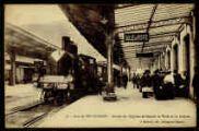 1 vue  - Gare de Bellegarde - Arrivée de l'Express de Genève et visite de la Douane (ouvre la visionneuse)