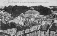 1 vue  - quartier de Grenette et du théâtre, pris du clocher de Notre-Dame (ouvre la visionneuse)