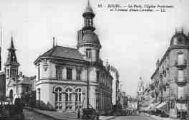 1 vue  - la Poste, l'église protestante et l'avenue Alsace-Lorraine (ouvre la visionneuse)