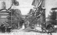 1 vue  - retour du 23e régiment d'Infanterie, 10 août 1919 rue Centrale (ouvre la visionneuse)