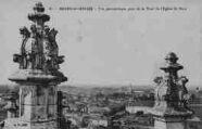 1 vue  - vue panoramique prise de la tour de l'église de Brou (ouvre la visionneuse)
