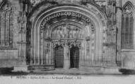 1 vue  - église de Brou - le grand portail (ouvre la visionneuse)