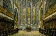 1 vue  - église de Brou - vue intérieure - le choeur - au centre tombeau du prince Philibert. (ouvre la visionneuse)