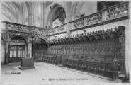 1 vue  - église de Brou - les stalles (ouvre la visionneuse)