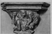 1 vue  - église de Brou - la Correction Maritale détail des stalles (ouvre la visionneuse)