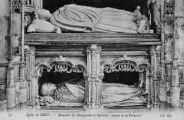 1 vue  - église de Brou - mausolée de Marguerite d'Autriche - statue de la princesse (ouvre la visionneuse)