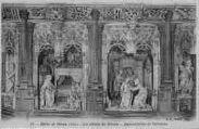 1 vue  - Eglise de Brou - les détails du retable - Annonciation et Visitation (ouvre la visionneuse)