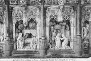 1 vue  - Eglise de Brou - figures du retable de la chapelle de la Vierge (ouvre la visionneuse)