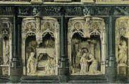 1 vue  - Eglise de Brou - Annonciation et Visitation ( retable de l'autel de la Vierge) (ouvre la visionneuse)