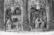 1 vue  - Eglise de Brou - chapelle de la Vierge - le retable - l'Annonciation et la Visitation (ouvre la visionneuse)