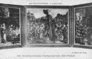 1 vue  - Musée Lorin - Vie de Saint-Jérôme, triptyque sur bois, école flamande (ouvre la visionneuse)