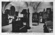 1 vue  - Eglise de Brou - Exposition d'art religieux ancien - Août-Septembre 1933 - Vue d'une partie de la salle principale d'exposition (ouvre la visionneuse)