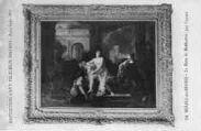 1 vue  - Eglise de Brou - Exposition d'art religieux ancien - Août-Septembre 1933 - Le bain de Bethsabée, par Coypel (ouvre la visionneuse)