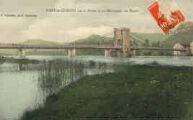 1 vue  - pont de Cordon sur le Rhône et les montagnes du Bugey (ouvre la visionneuse)