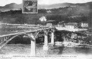 1 vue  - Pyrimont - pont sur le Rhône et café-restaurant de la Gare (ouvre la visionneuse)