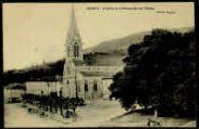 1 vue  - L'Eglise et la Promenade des Tilleuls (ouvre la visionneuse)