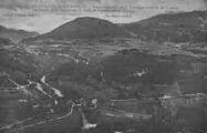 1 vue  - Panorama pris de la Tour sur le Pont de Confort, la Vallée de la Valserine, le Crêt de Chalame et le Sorgia (ouvre la visionneuse)
