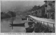 1 vue  - environs immédiats - vue de Chanaz sur le canal de Savières (Phot. Tournassoud) (ouvre la visionneuse)