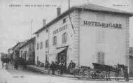 1 vue  - hôtel de la Gare et café Lucet (ouvre la visionneuse)