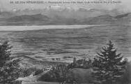 1 vue  - panorama du Léman et des Alpes, vu de la route de Gex à la Faucille (ouvre la visionneuse)