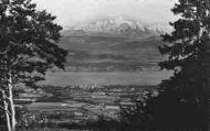 1 vue  - le lac Léman et le Mont-Blanc vus du col de la Faucille (ouvre la visionneuse)