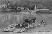 1 vue  - passage du Rhône en bac et le port de Groslée (ouvre la visionneuse)