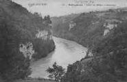 1 vue  - défilé du Rhône à Génissiat (ouvre la visionneuse)