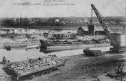 1 vue  - Le port de Frans sur la Saône dans le département du Rhône et vue de Jassans (ouvre la visionneuse)