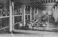 1 vue  - atelier de moulinage de soie à l'usine Bonnet (ouvre la visionneuse)