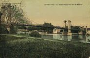 1 vue  - le pont suspendu sur le Rhône (ouvre la visionneuse)