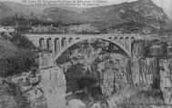 1 vue  - ligne de tramàay électrique de Bellegarde à Chézery, le pont du Moulin des Pierres sur la Valserine (ouvre la visionneuse)