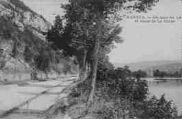 1 vue  - un coin du lac et route de la Cluse (ouvre la visionneuse)