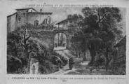 1 vue  - la porte d'en-bas, d'après une ancienne estampe du misée du Vieux Pérouges (ouvre la visionneuse)
