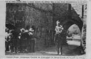 1 vue  - Diamant-Berger, représentant l'arrivée de d'Artagnan en la ville de Meung (ouvre la visionneuse)