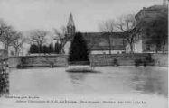 1 vue  - abbaye cistercienne de Notre-Dame-des-Dombes - gare et poste - le lac (ouvre la visionneuse)