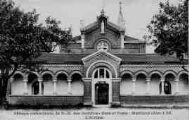 1 vue  - abbaye cistercienne de Notre-Dame-des-Dombes - gare et poste - l'atrium (ouvre la visionneuse)