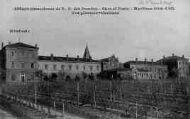 1 vue  - abbaye cistercienne de Notre-Dame-des-Dombes - gare et poste - vue générale intérieure (ouvre la visionneuse)