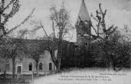 1 vue  - abbaye cistercienne de Notre-Dame-des-Dombes - gare et poste - vue est (ouvre la visionneuse)