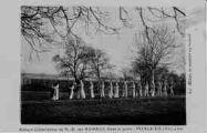 1 vue  - abbaye cistercienne de Notre-Dame-des-Dombes - gare et poste - les moines se rendant au travail (ouvre la visionneuse)