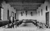 1 vue  - abbaye cistercienne de Notre-Dame-des-Dombes - gare et poste - le réfectoire (ouvre la visionneuse)