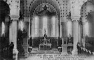 1 vue  - abbaye cistercienne de Notre-Dame-des-Dombes - gare Marlieux - le maître-autel - chapelles du Sacré-Coeur de Saint-Benoît, de Saint-Bernard, et du Bienheureux J.M.B. Vianney (ouvre la visionneuse)