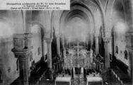 1 vue  - monastère cistercienne de Notre-Dame-des-Dombes - l'église abbatiale - gare et poste (ouvre la visionneuse)