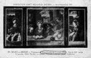 1 vue  - triptyque de St-Trivier - fin du Xve siècle - à gauche St-Nicolas, au centre : Nativité, à droite : Ste-Catherine (ouvre la visionneuse)