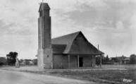 1 vue  - sanctuaire de N.D. de la Route Blanche, vue de face (côté Gex) (ouvre la visionneuse)