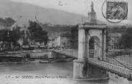 1 vue  - le pont sur le Rhône (ouvre la visionneuse)
