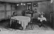 1 vue  - hôtel Léger - la salle à manger où s'est tenue l'entrevue historique de MM. Briand et Stresseman, le 17 sept 1926 (ouvre la visionneuse)